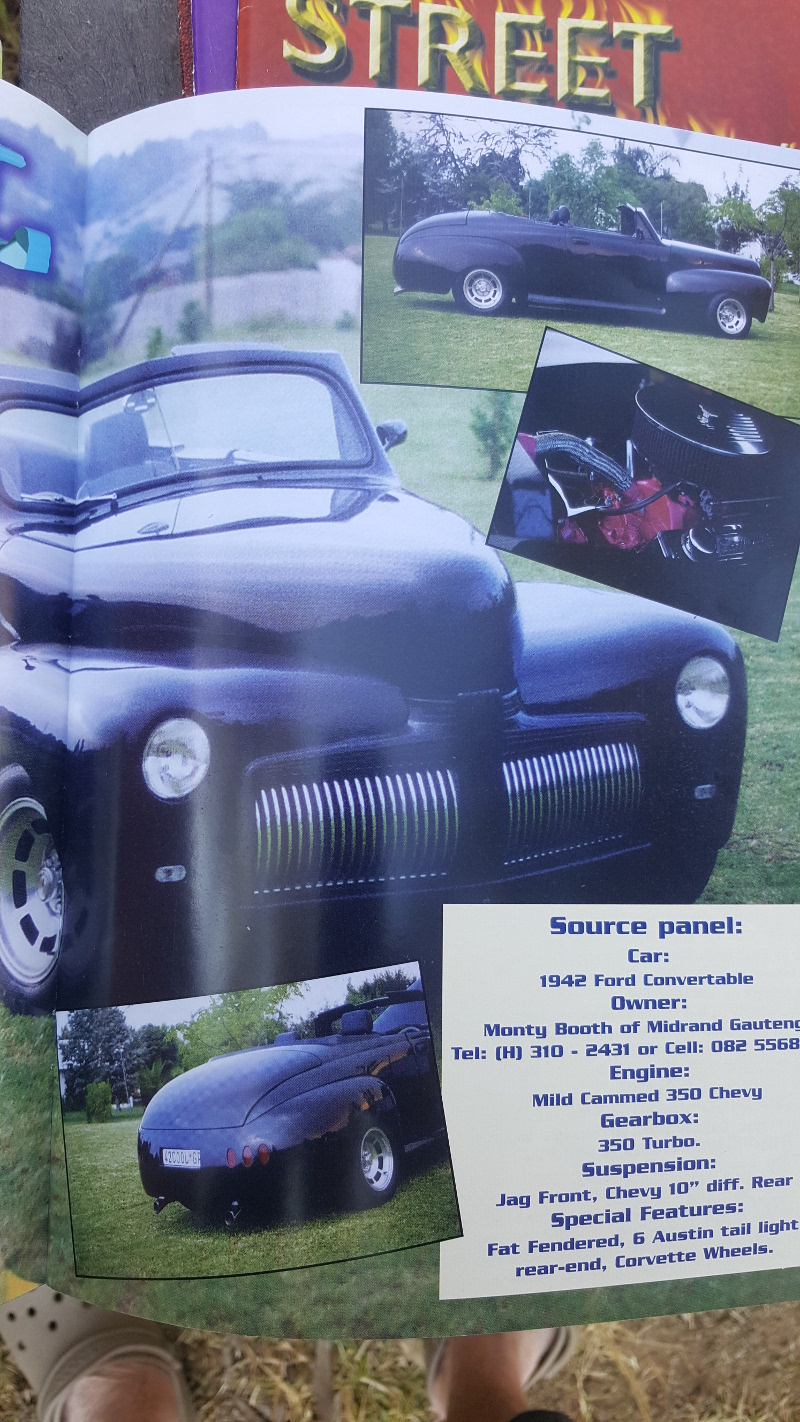 Magazine Features Montys Rods Pins 1941 Ford Station Wagon Street Track 1942 Convertible
